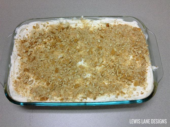 Banana Pudding Poke Cake by Lewis Lane