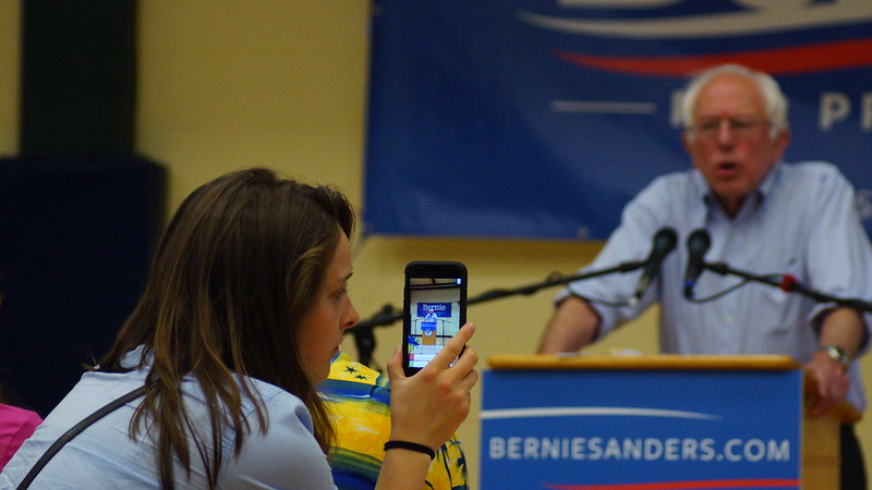 Why look at the candidate when I can watch him on my smartphone?