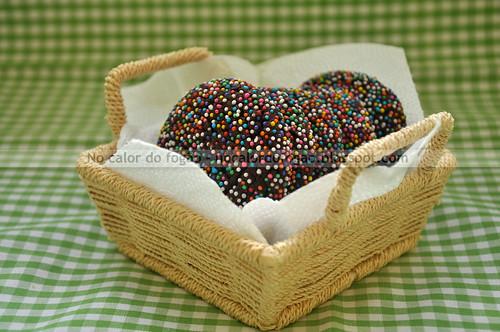 Cookies de chocolate e confeito - nonpareil