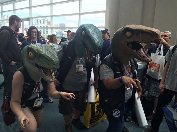 San Diego Comic-Con 2015 Cosplay - Raptors