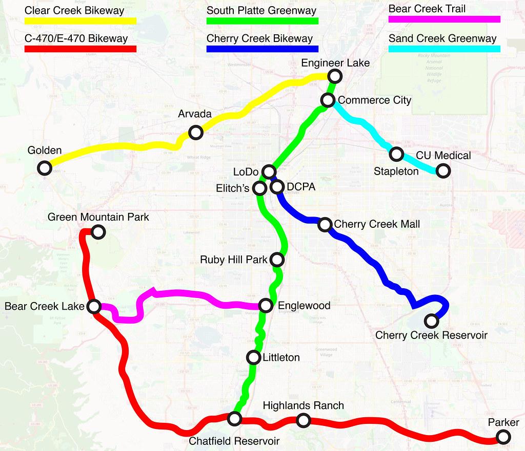 How to Get More People to Bike: Better Maps - CityLab Denver Bike Map on denver surrounding cities, denver road map, denver nationals park, denver park map, denver taxi map, denver street map, denver cycle map, denver hiking map, denver beer company, denver home, denver zip code map, denver mugshots, denver greenway trail map, denver ghetto, denver national airport, denver health map, denver cabinets, denver freeways, denver on map,