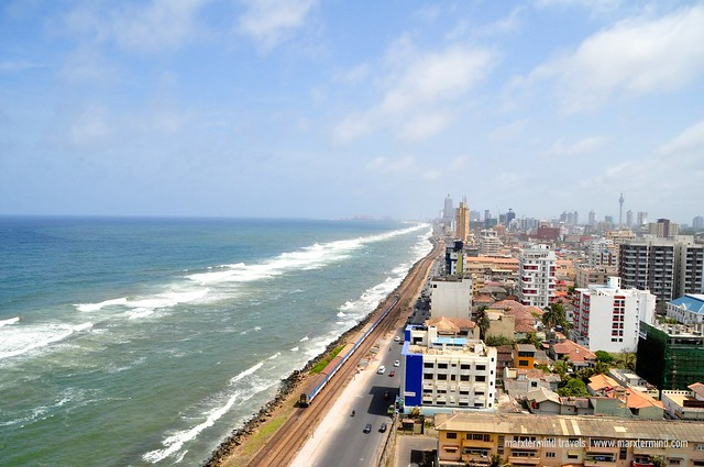 View from the Rooftop Lounge of OZO Colombo