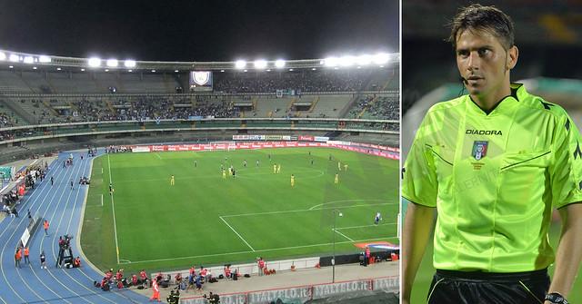 Stadio Bentegodi Verona arbitro Fabrizio Pasqua