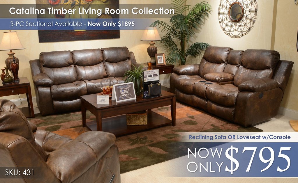 Catalina Timber Reclining Collection 431