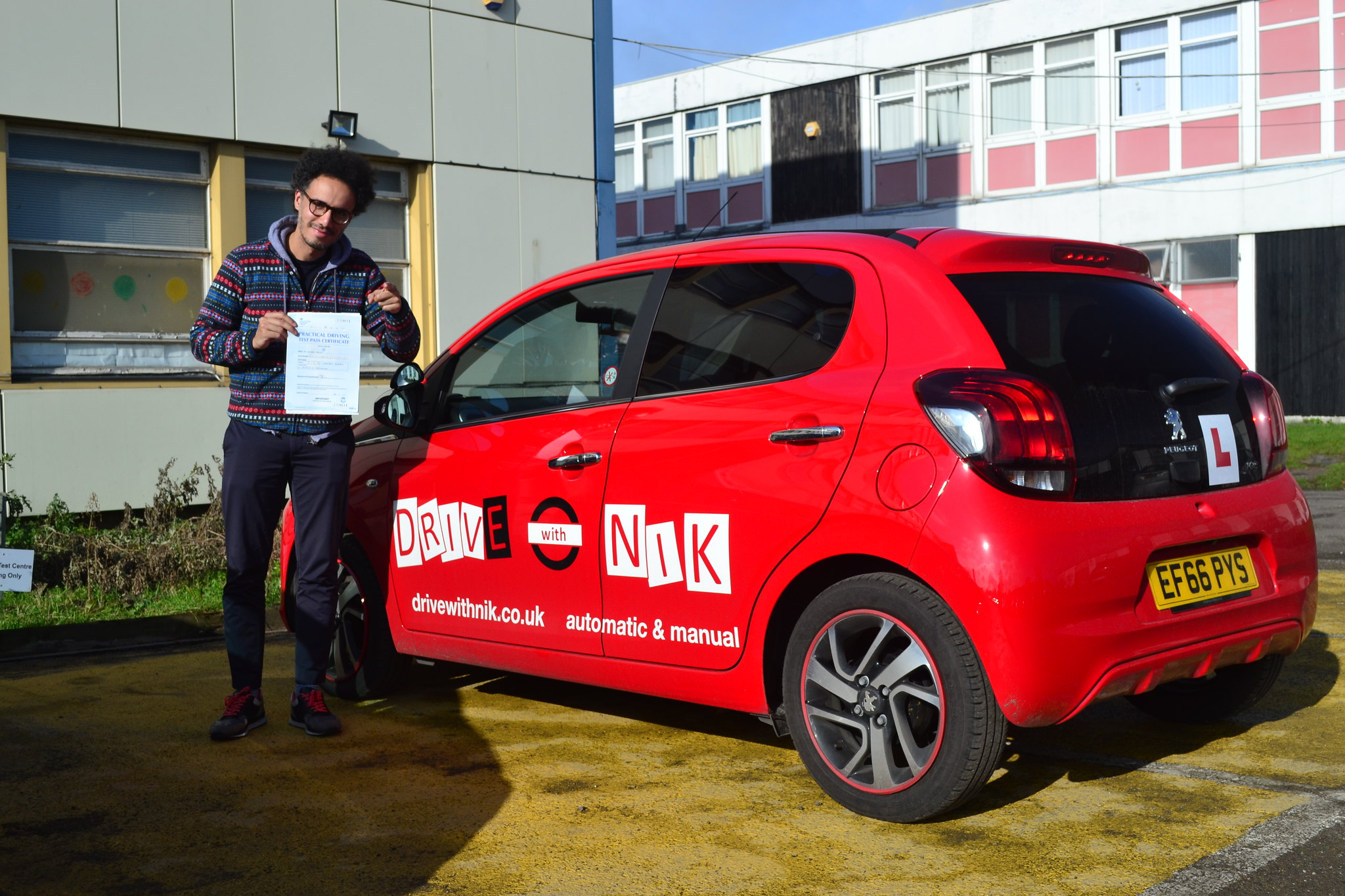 Manual driving lessons Wood Green Youness passed his practical driving test first time with Drive with Nik