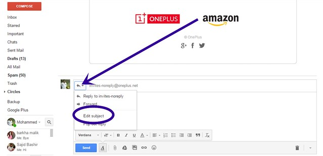Change Email Subject on Reply or Forward in Gmail