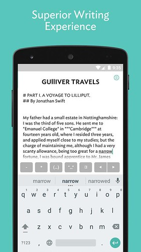 best writing apps for android in android connections jotterpad is another popular writing app for android jotterpad is perfect for writing novel lyrics poems essay draft and screenplay