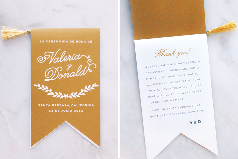 Wedding Ceremony Program by Valerie Enríquez