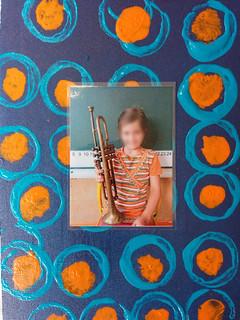 cadre photo abstrait et ronds - réalisation 2