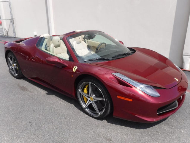 Ferrari 458 Spyder Dark Red
