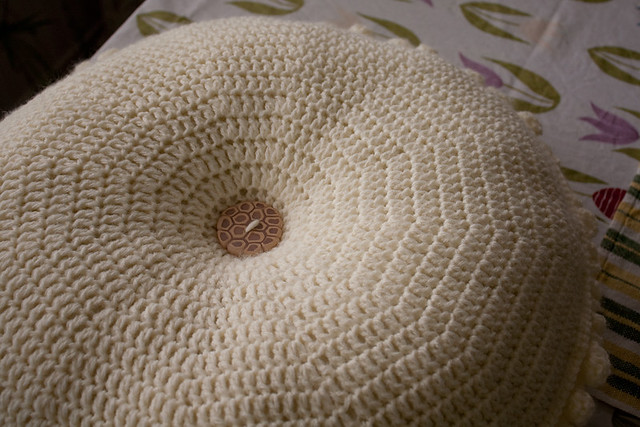 "Crocheted ""Petals"" Pillow"