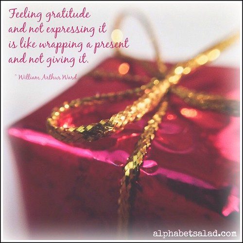 What's on your gratitude list today? Please share!