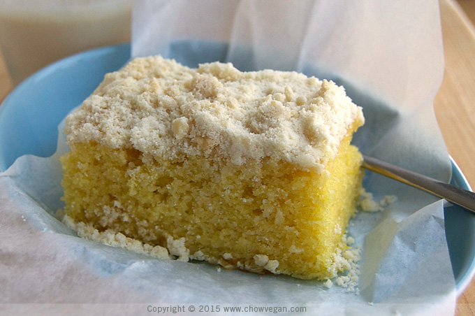 Vegan Orange Crumb Cake