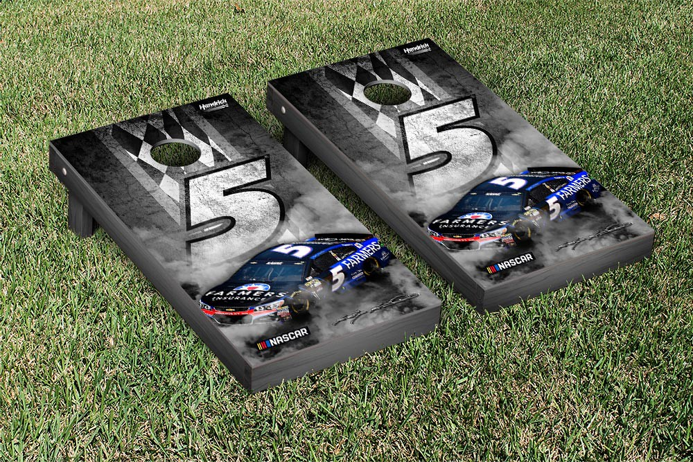 KASEY KAHNE #5 CORNHOLE GAME SET CONCRETE VERSION