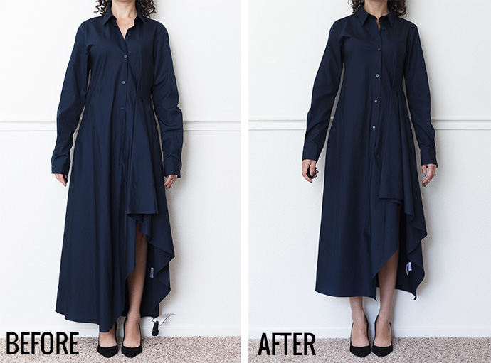 Adventures in Alterations – Theory Shirt Dress
