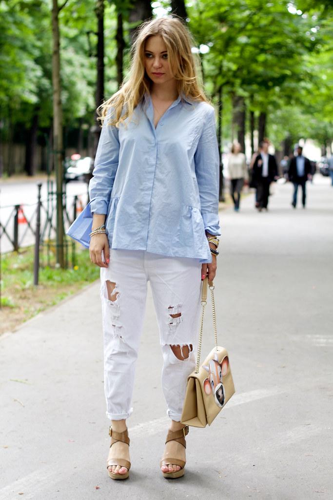 h&m trend blouse zara white jeans