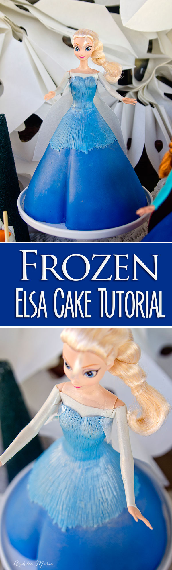 Everyone loves Frozen party, and the best part is the cake! here is a full tutorial to make your own Elsa cake