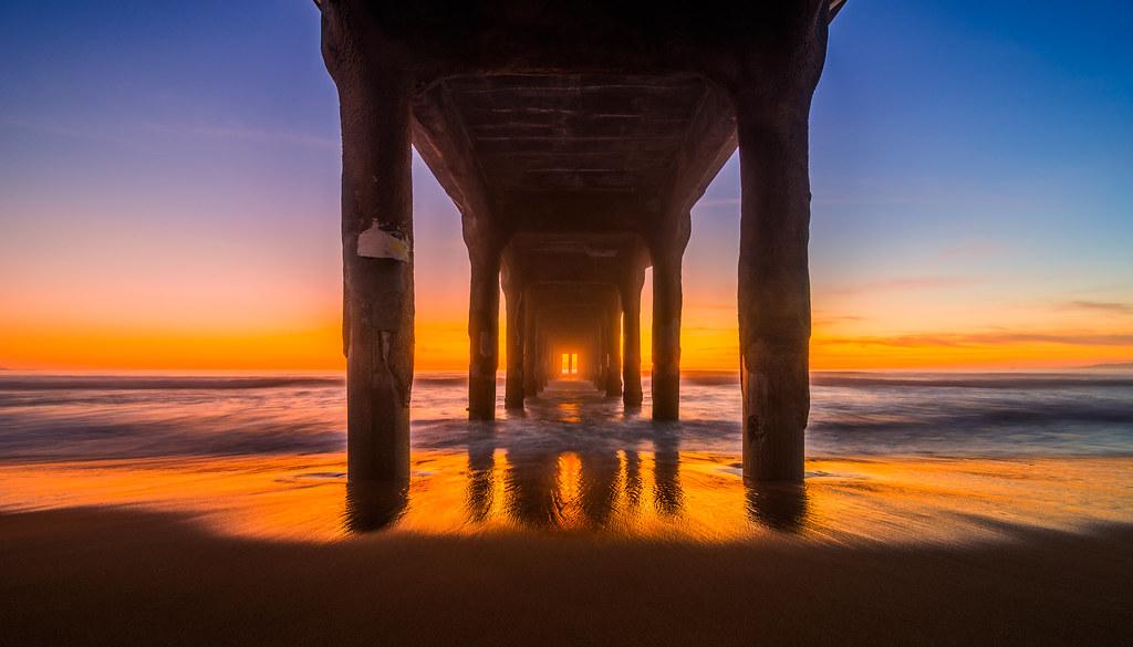 Manhattan Beach Pier Explored Sunset Under The