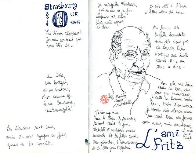 Strasbourg - L'ami Fritz, un Alsacien haut en couleurs, à bord du bar l'Atlantico