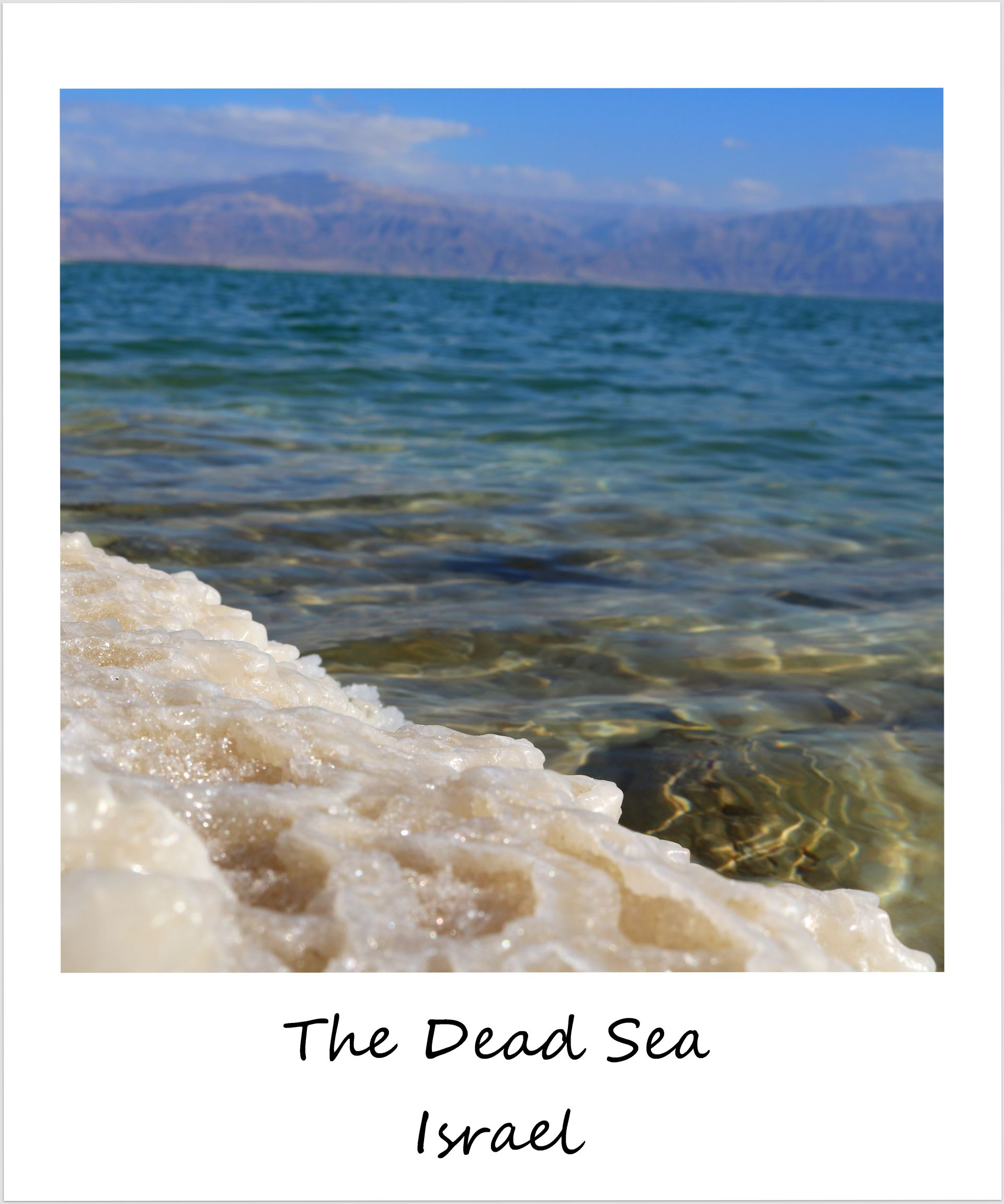 polaroid of the week israel dead sea 2017