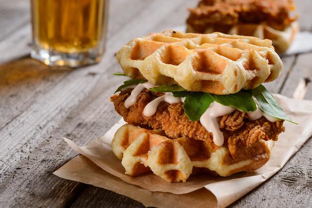 WaffleChickenSandwich