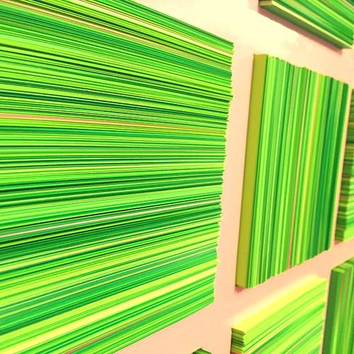 Paper Art - Big Green by David Dunleavy