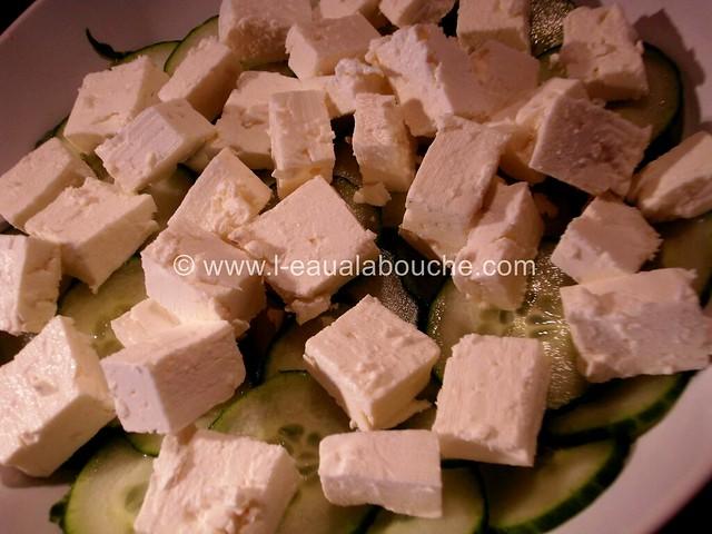 Salade de Concombre au Feta Vinaigrette © Ana Luthi Tous droits réservés 03