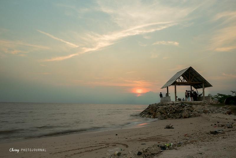 sunset pantai redang sekinchan