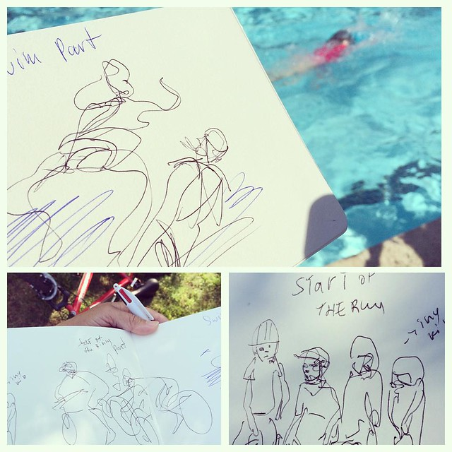 4th of July Triathlon #biking #running #swimming #summerbreak #sketchingeverywhere #sketchingwhilewaiting