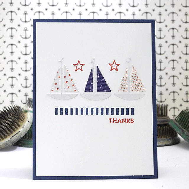 Three Ships by Jennifer Ingle #JustJingle #simonsaysstamp #cards