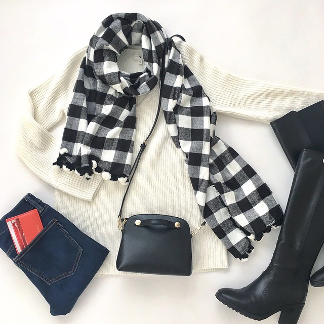 Lou & Grey Ribbed Tunic Sweater Flatlay