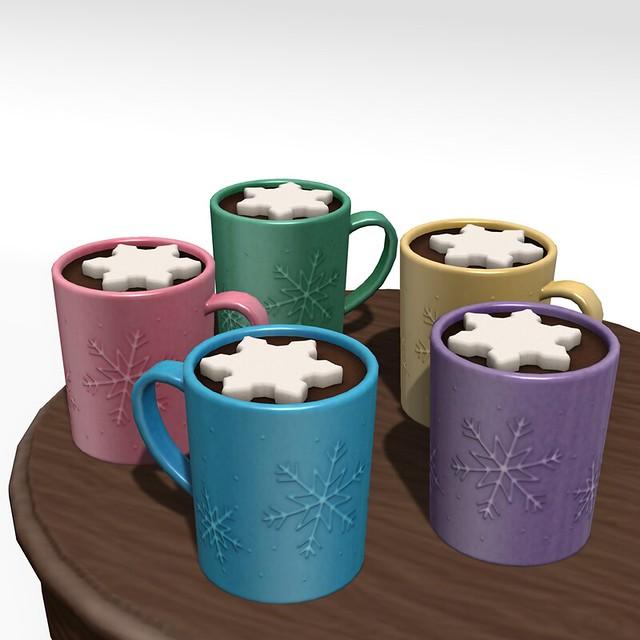 snowflake cocoa mug