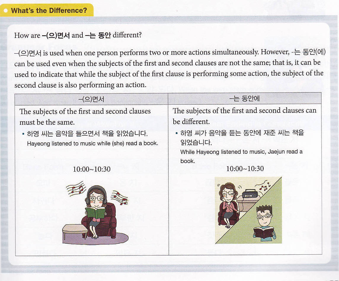 2-difference2 Korean grammar in use- beginning