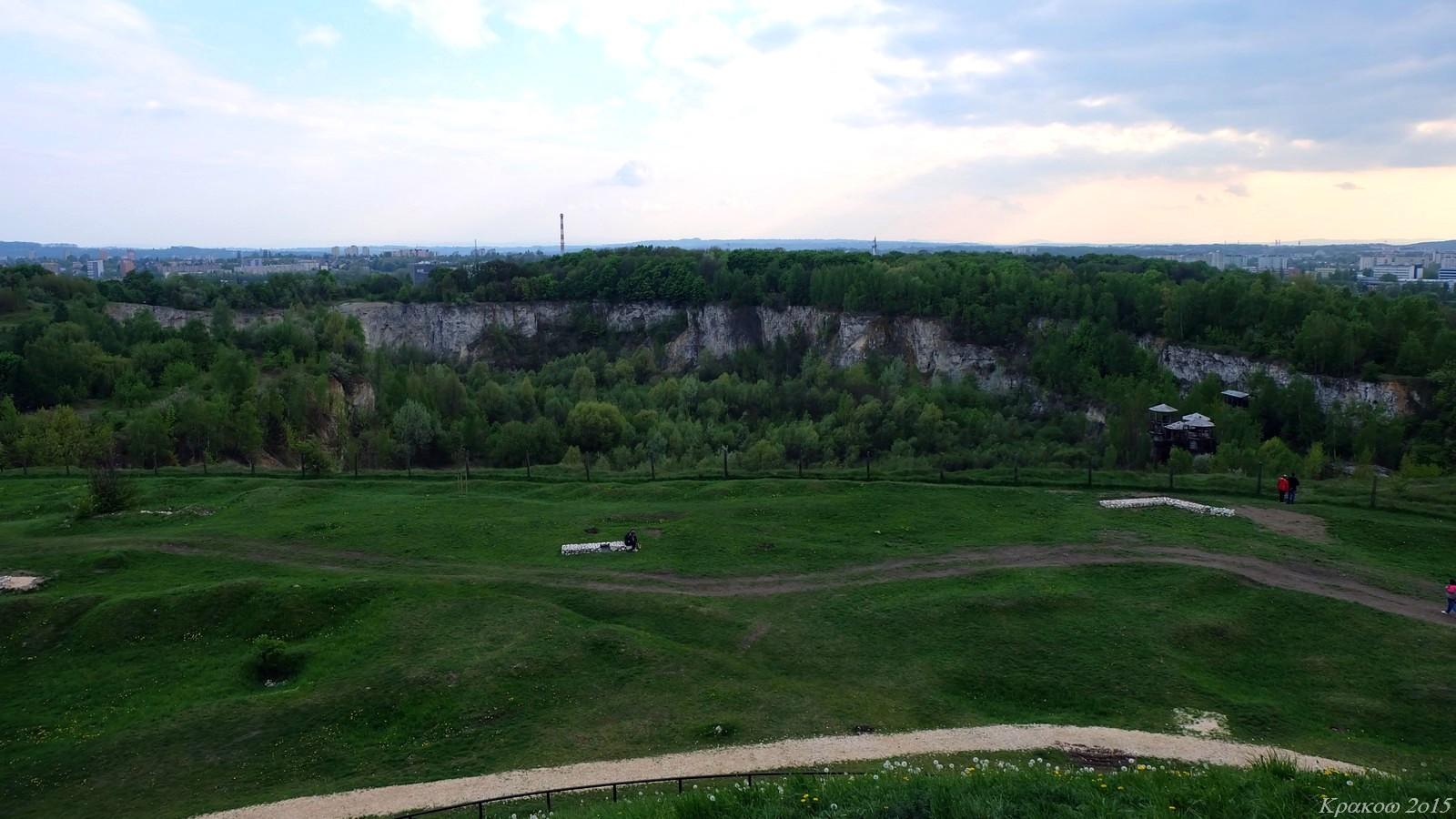 View from Kopiec Krakusa, Krakow, Poland