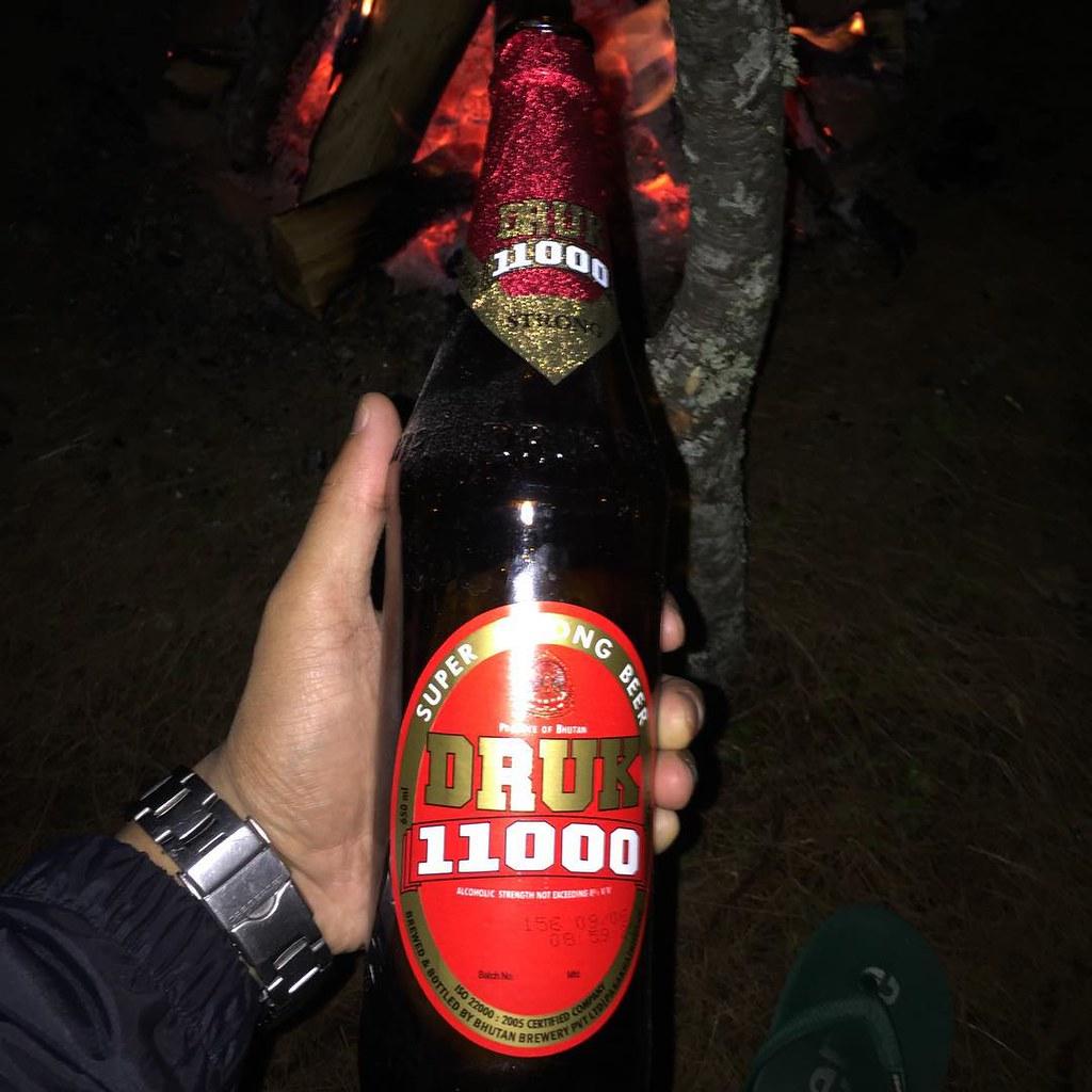 Druk 11000 Bhutan Produced Popular Beer Drink But Be Res Flickr