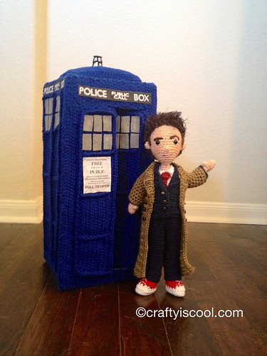 Doctor Who Crochet Amigurumi from CraftyIsCool - Tenth Doctor and TARDIS