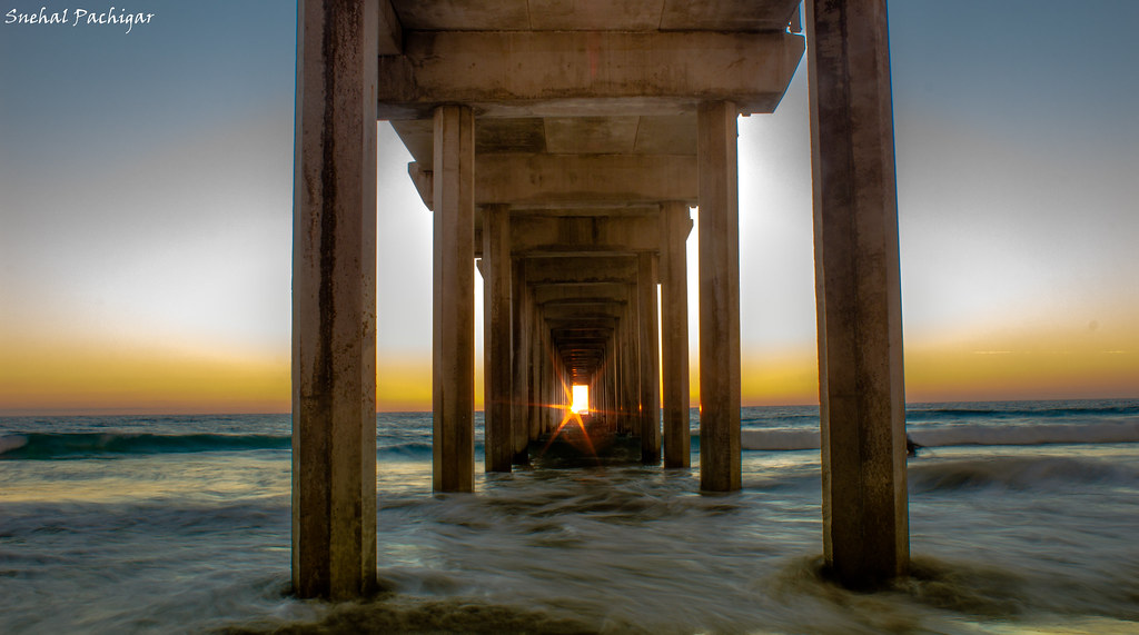 Scripps Pier Sunset, La Jolla | One of those rare moments ...