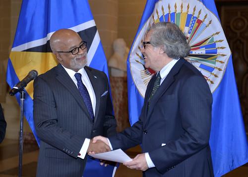 New Representative of Saint Lucia to the OAS Presents Credentials