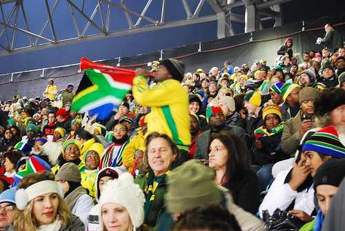 A_South_African_Fan_Plays_His_Vuvuzela