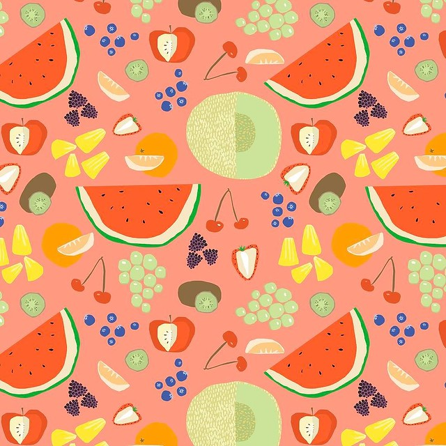 Aaaaaaand my final #patternjanuary, themed #fruitsalad When I think of fruit salad I think of my friend Henry and how we are both VERY opinionated and united about what fruit salads should be like in restaurants. We've all been there, disappointed by a fr