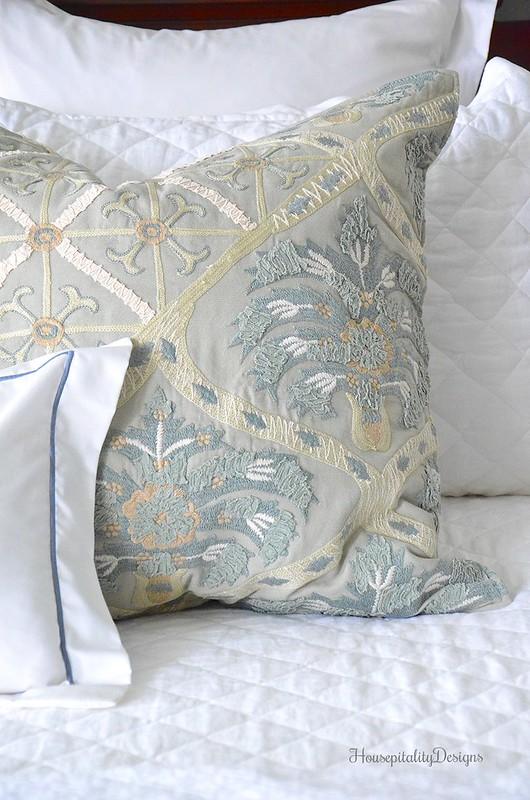 White Bedding-Pottery Barn Pillow-Housepitality Designs