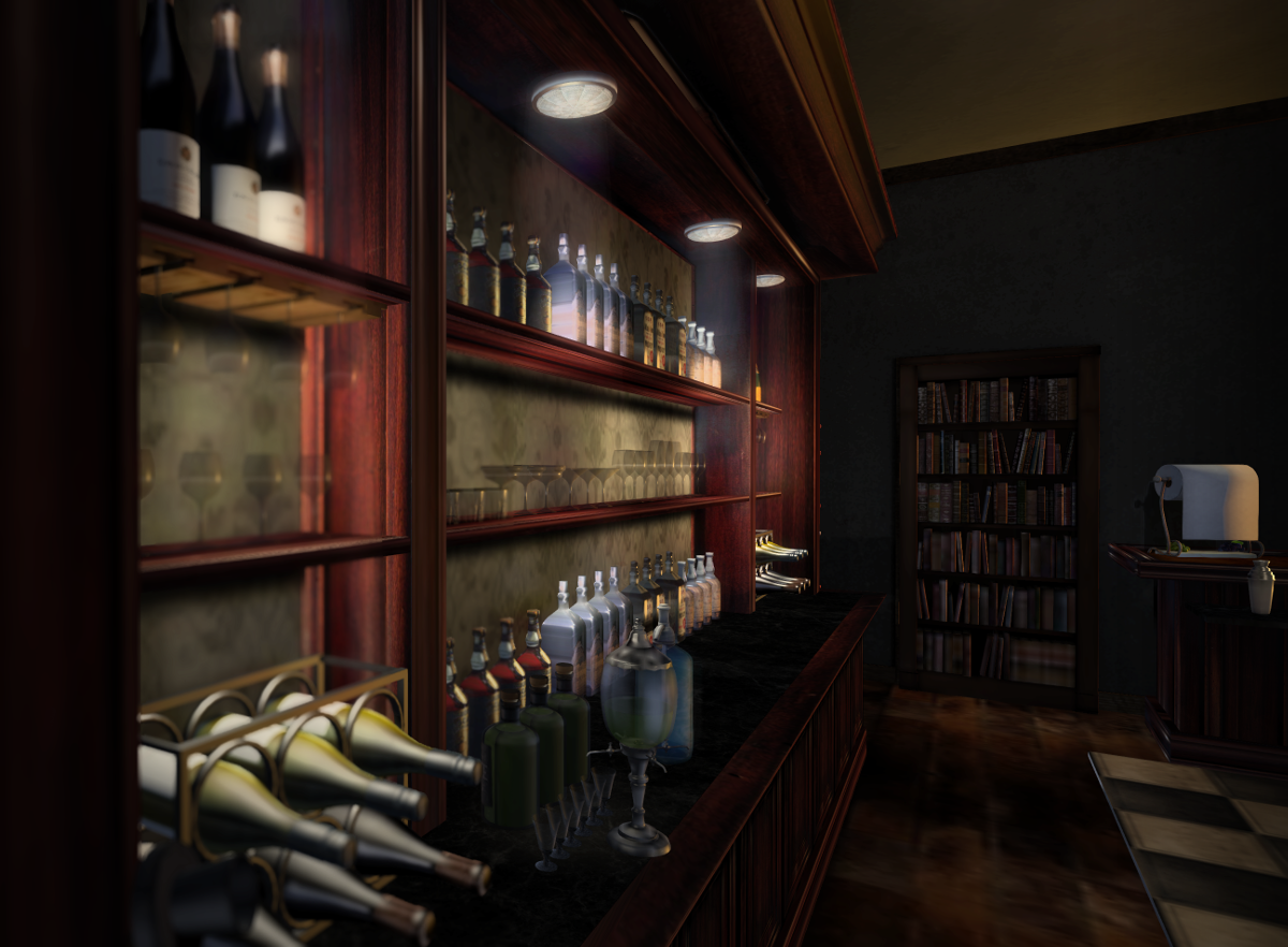 The hidden speakeasy...
