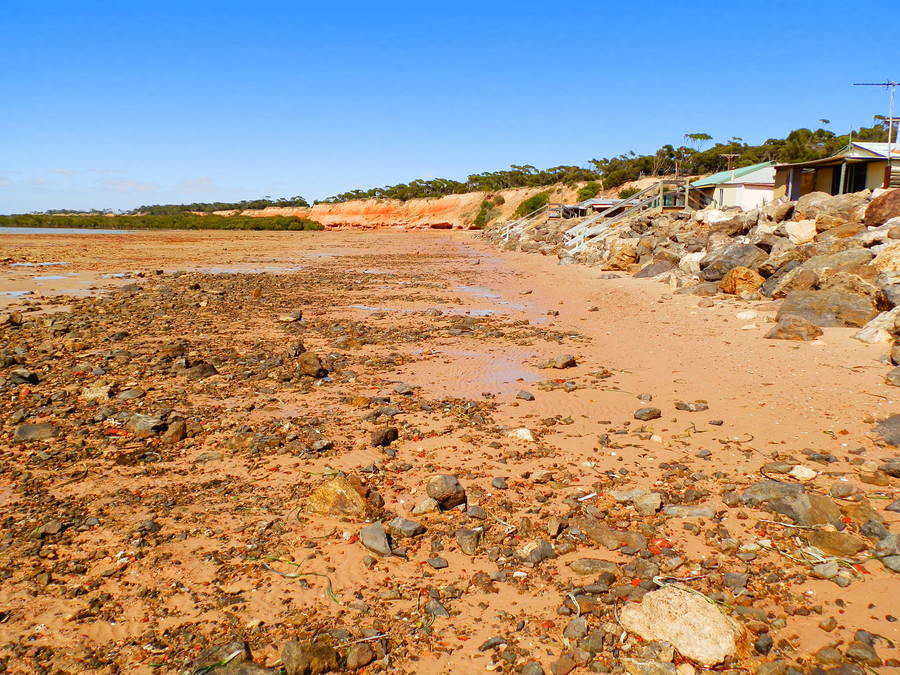 Port Clinton Shacks at Low Tide, Yorke Peninsula