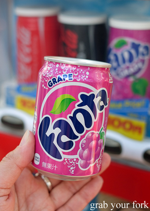 Grape Fanta from a Japanese vending machine in Osaka