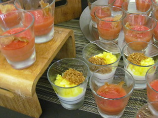 Blood Orange Sago and Coconut Pineapple Panna Cotta Puddings