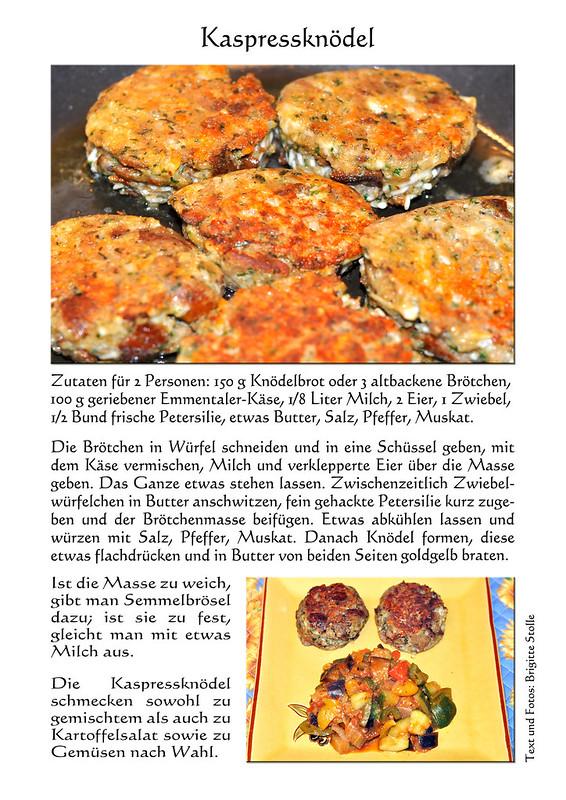 Rezept Bayrische Kaspressknödel mit Ratatouille aus der Provence ... Baßd scho ... Vegetarisches Hauptgericht ... Fotos und Collagen: Brigitte Stolle, Mannheim