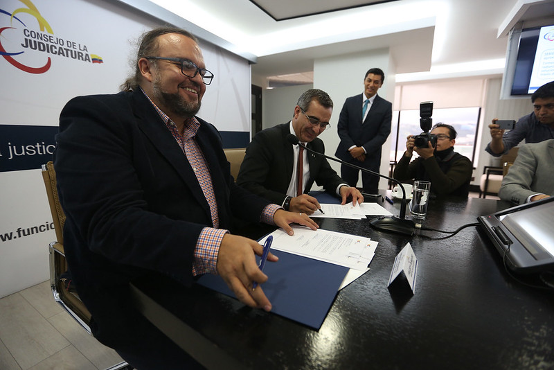 Firma de convenio interinstitucional MinEduc- Consejo de la Judicatura
