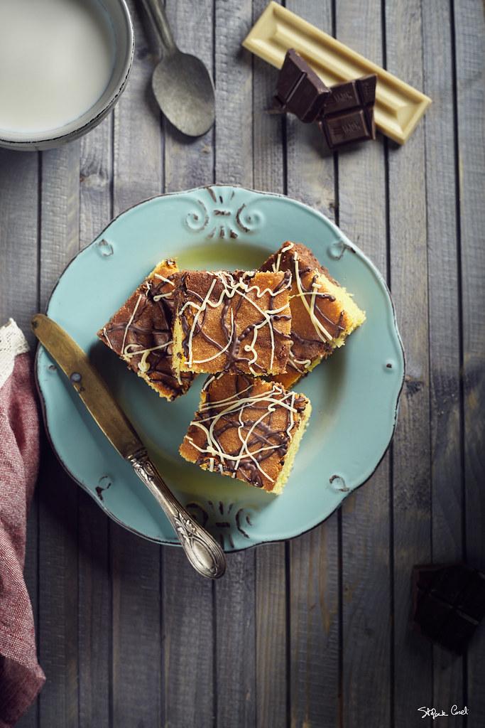 Traybake cioccolato e vaniglia