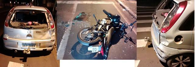 acidente moto e carro