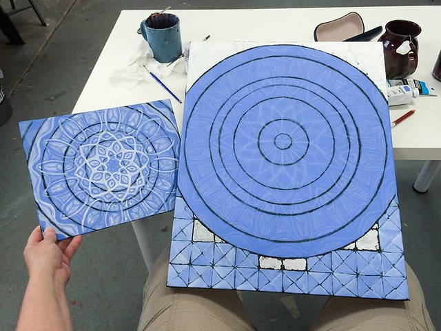 New Blue Mandala Painting